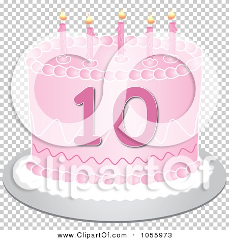 Royalty Free Vector Clip Art Illustration Of A Pink Tenth