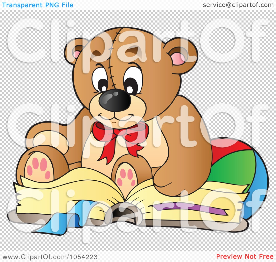 Royalty-Free Vector Clip Art Illustration of a Reading ...