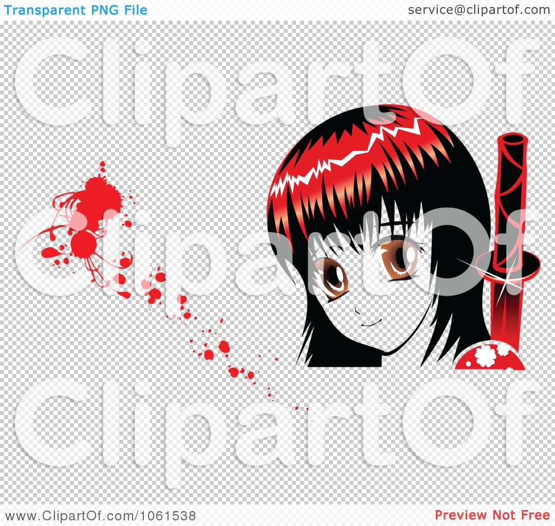Royalty-Free Vector Clip Art Illustration of a Red Haired Manga ...