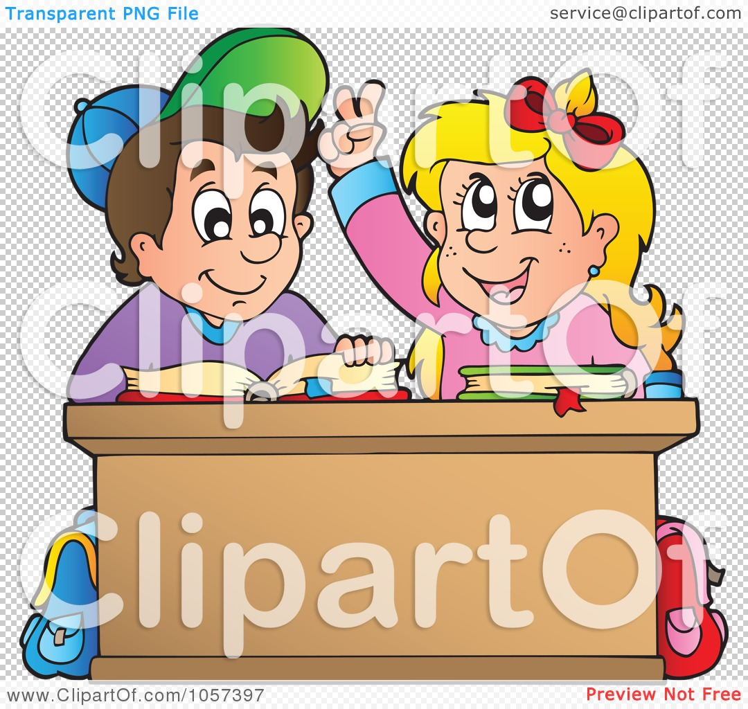 Royalty-Free Vector Clip Art Illustration of a School Boy And Girl ...