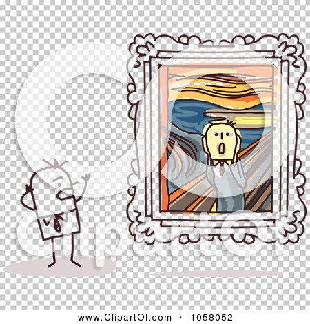 Royalty-Free Vector Clip Art Illustration of a Stick Man Viewing ...