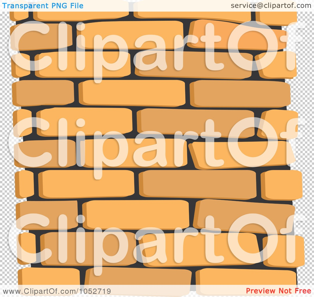 Royalty-Free Vector Clip Art Illustration of a Tan Brick Wall ...