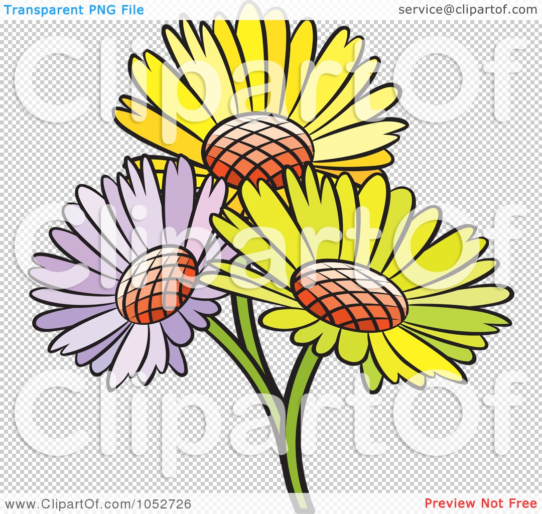 Royalty free vector clip art illustration of a trio of daisy flowers png file has a izmirmasajfo Gallery