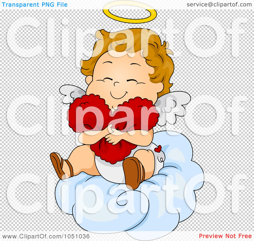 Royalty-Free Vector Clip Art Illustration of a Valentine Cupid ...