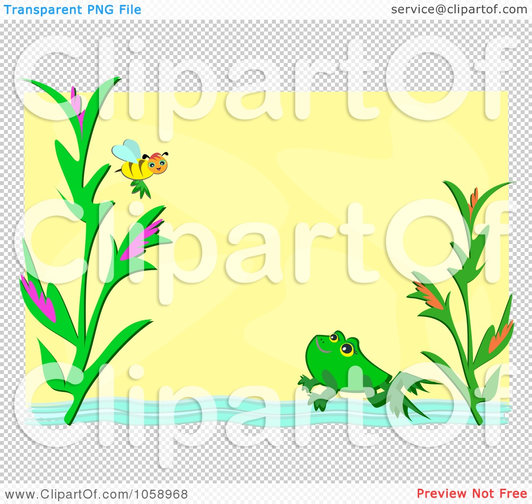 Royalty-Free Vector Clip Art Illustration of a Yellow Frame With ...