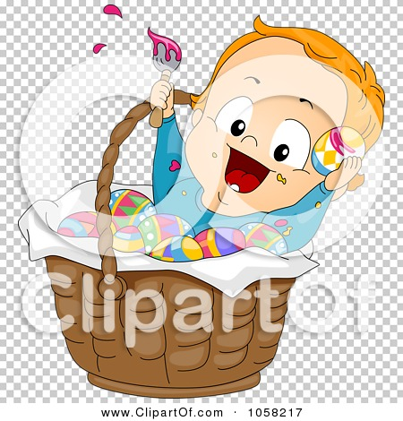 Royalty-Free Vector Clip Art Illustration of an Easter Toddler Boy ...