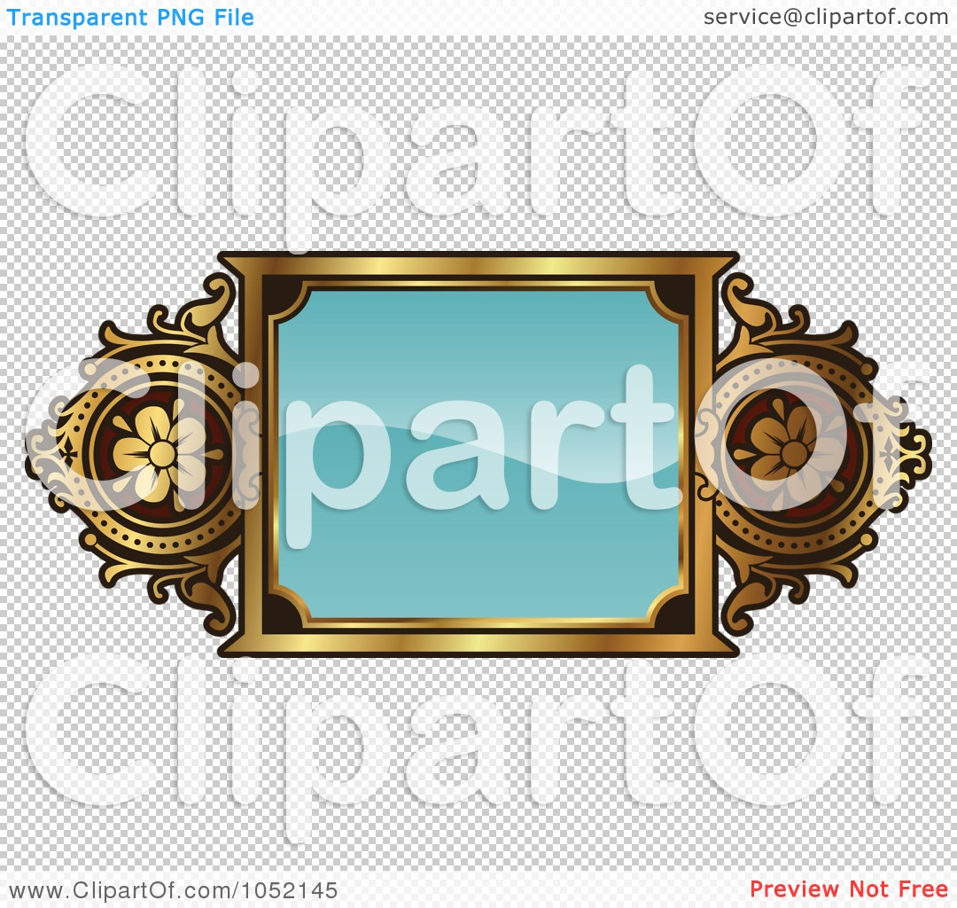 Royalty-Free Vector Clip Art Illustration of an Ornate Turquoise ... for Ornate Picture Frame Clip Art  55nar
