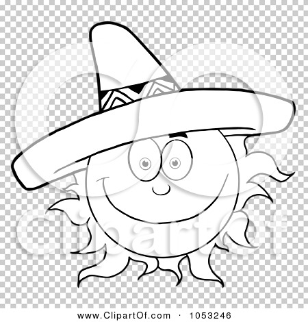 92aac4b0700 Royalty-Free Vector Clip Art Illustration of an Outline Of A Happy ...