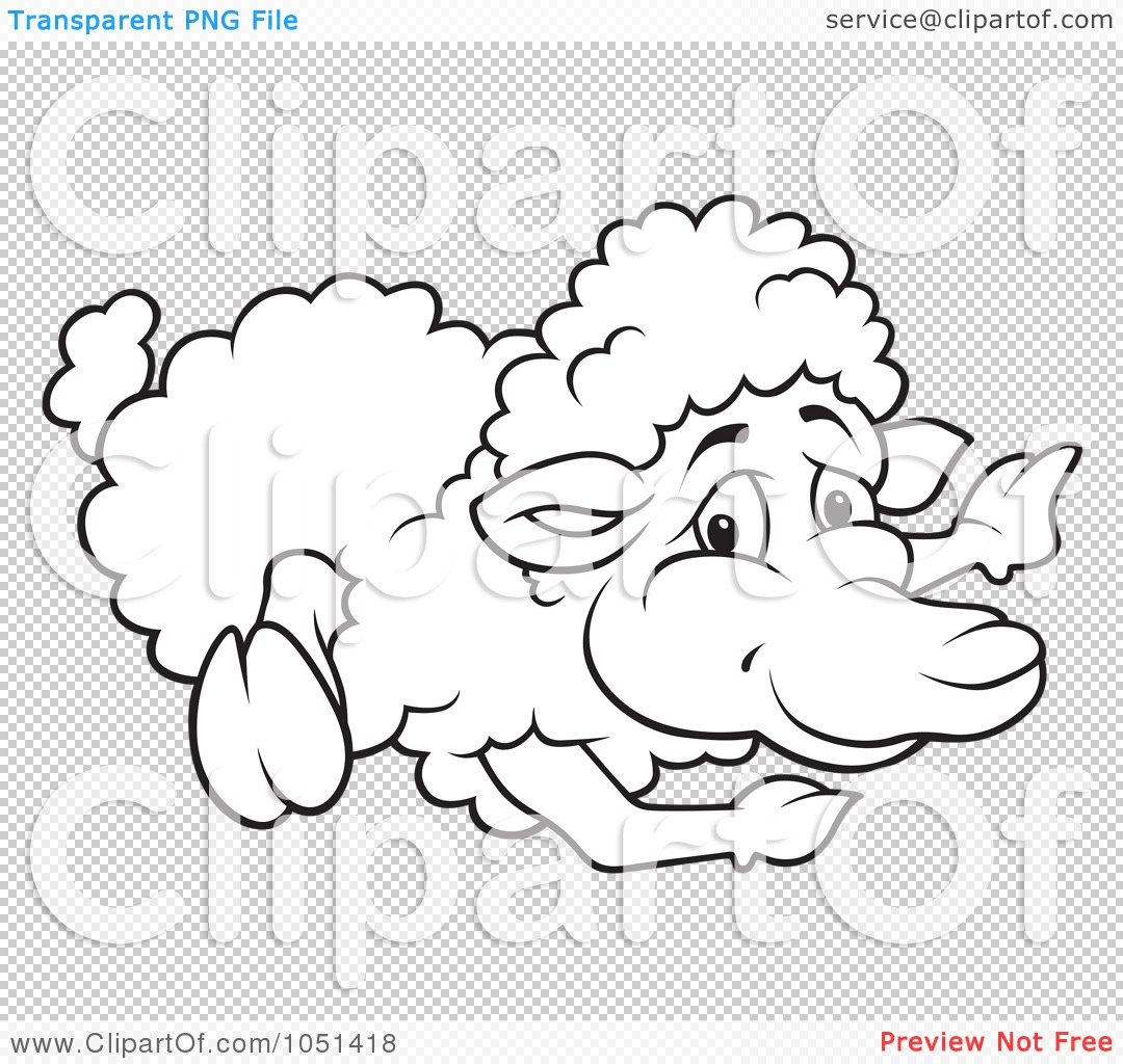 Displaying 14> Images For - Sheep Drawing Outline...