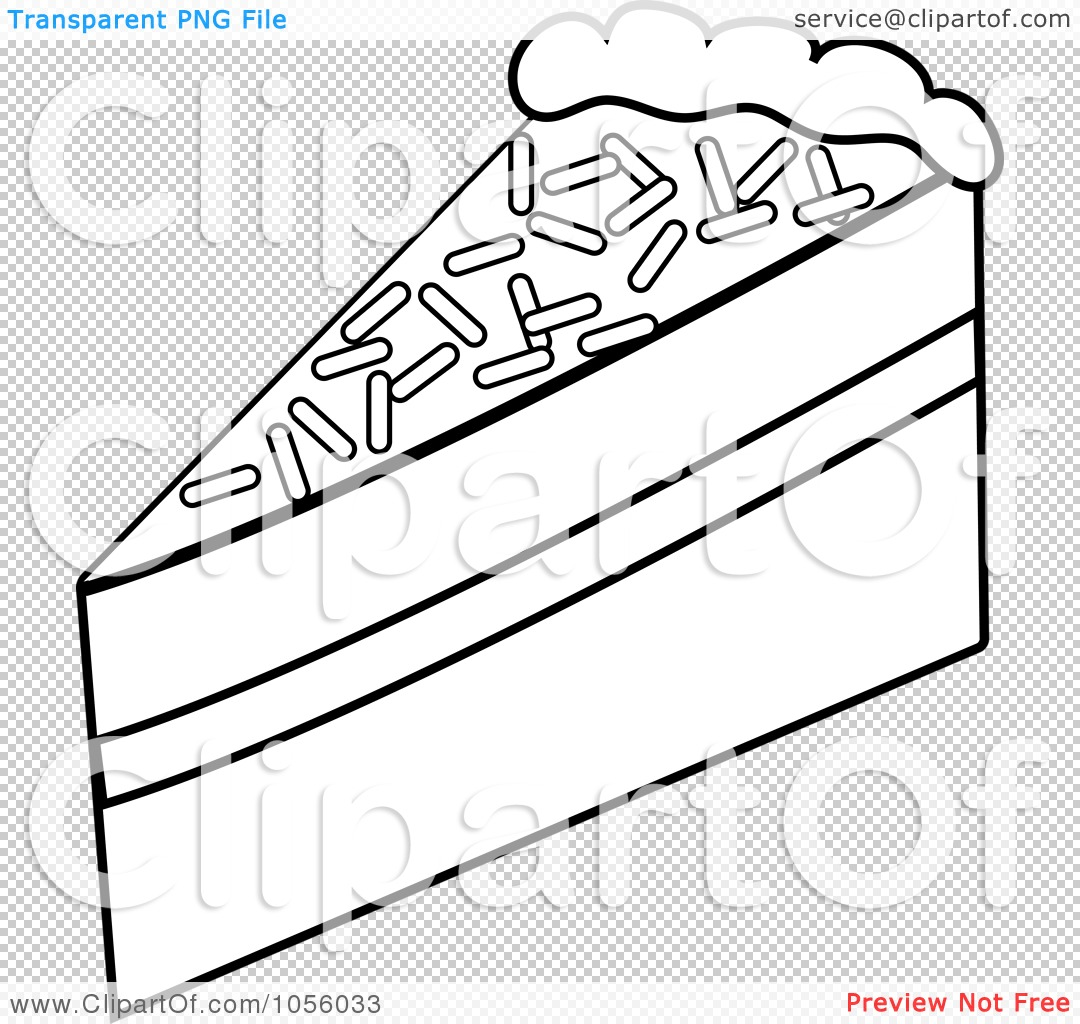 Royalty-Free Vector Clip Art Illustration of an Outline Of A Slice ...