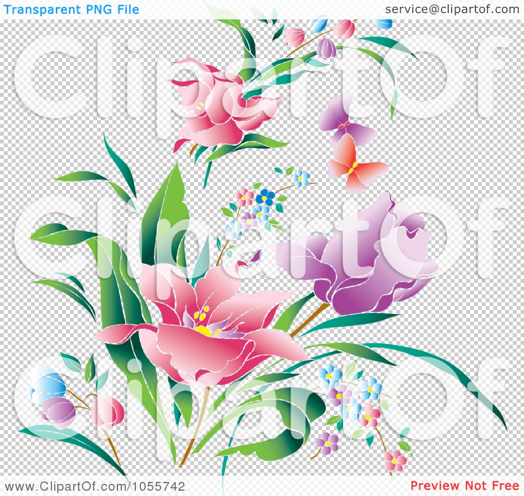 royalty free vector clip art illustration of beautiful spring