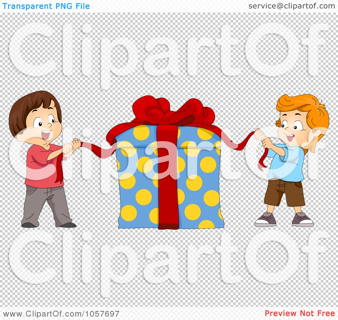 Royalty-Free Vector Clip Art Illustration of Two Kids ...