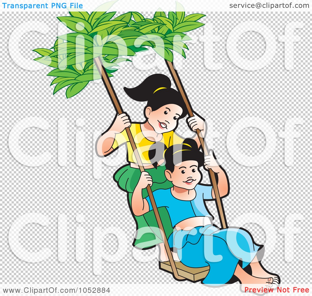 Royalty Free Vector Clip Art Illustration Of Two Sinhala New Year