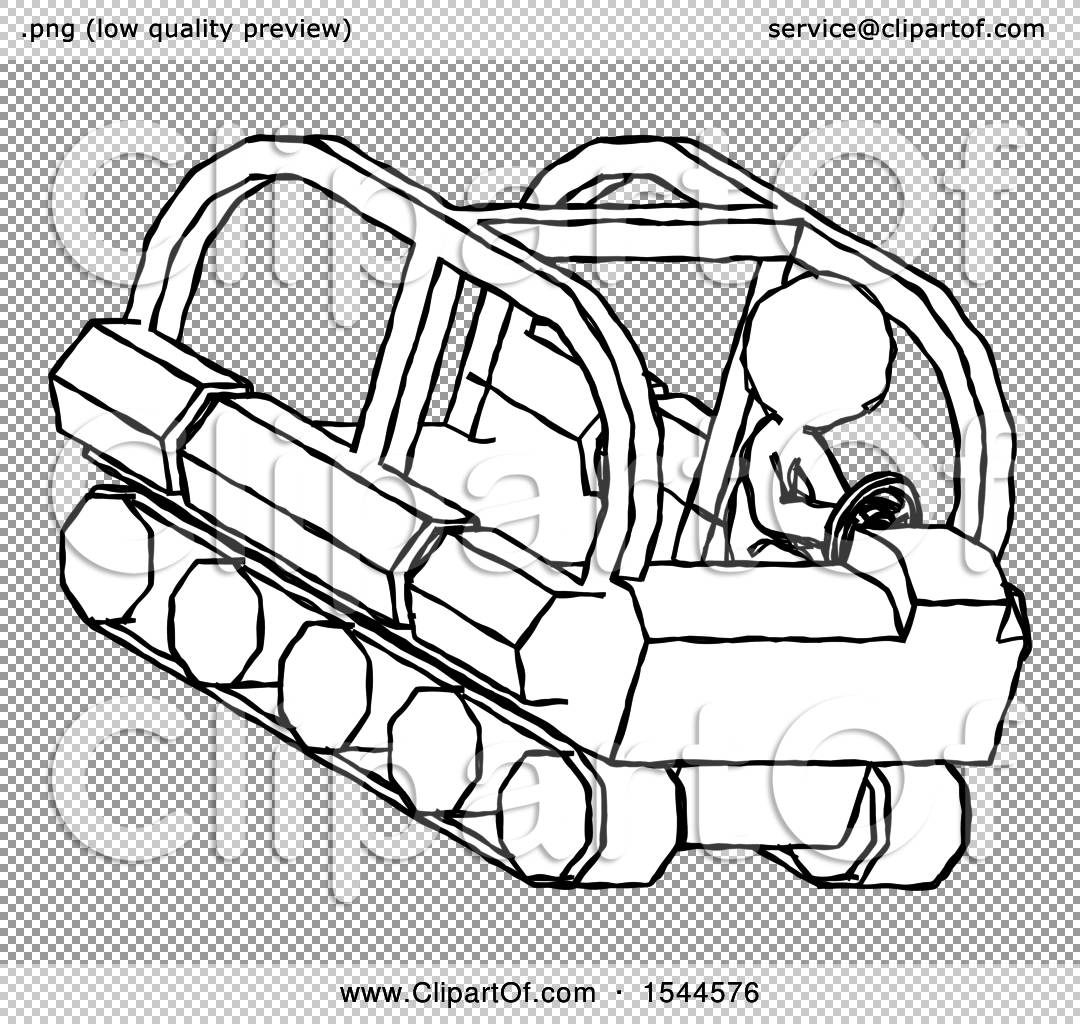 Sketch Design Mascot Man Driving Amphibious Tracked Vehicle Top ...